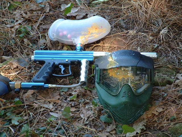 image of dirty paintball gun
